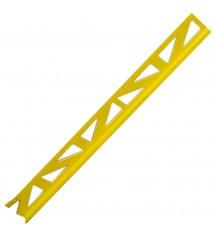 Profil pvc 2.50m 6mm jaune vif