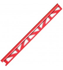 Profil pvc 2.50m 6mm rouge...