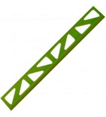 Profil pvc 2.50m 6mm vert vif