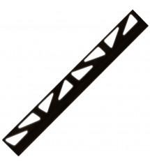 Profil pvc 2.50m 10mm noir