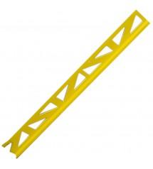 Profil pvc 2.50m 8mm jaune vif