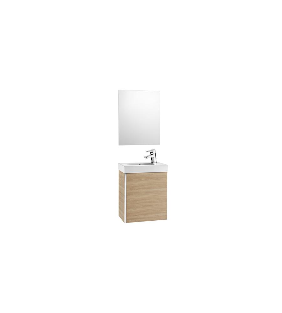 Meuble pack WC appoint 450 chêne (lmeuble+vasque+armoire