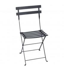 Chaise bistro pliante carbone