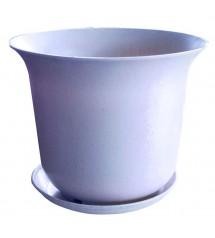 Pot de fleurs 15C blanc
