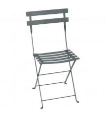 Chaise bistro pliante gris...