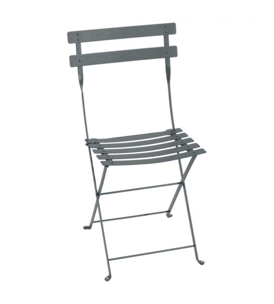 Chaise bistro pliante gris orage