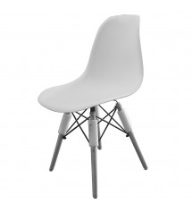 Chaise scandinave blanche...