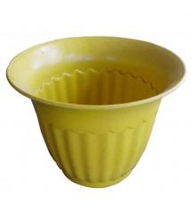 Pot de fleurs 4FA jaune
