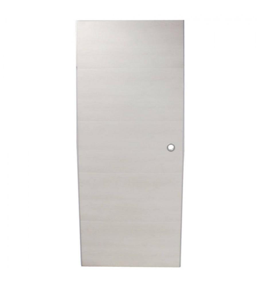 Comment Peindre Une Porte En Pvc porte coulissante pvc 87x211 chêne blanc en kit