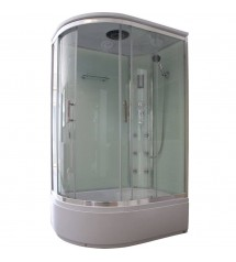 Cabine de douche hydro 120x80x215 chrome verre 5mm transparent