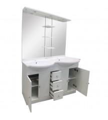 Meuble salle de bain Bora D120 (4 élements)