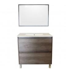 Dakota Meuble sdb 80 2t+miroir+vasque:1114331+1114332