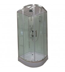 Cabine de douche hydro 90x90x225 chrome verre 5mm transparent