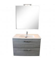 Adele meuble sable 80cm miroir mitigeur*:1114374+1114369