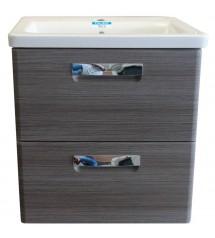 Gap meuble sdb 60cm gris*