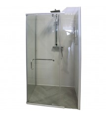 Cabine de douche 120x80xH200 satin clear!