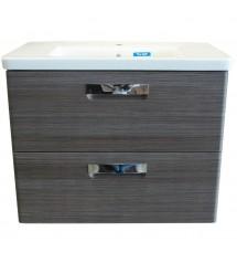 Gap meuble sdb 80cm gris*