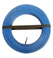 Fil isolé 6mm² rl 100ml bleu