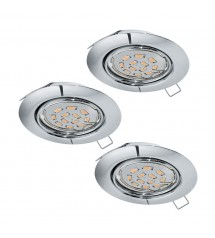 PENETO spot encastrable 3 chrome LED GU10 5W-