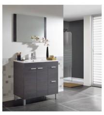 ACTIVA GRIS CENIZA meuble 80cm+miroir+vasque:1114405+1114406