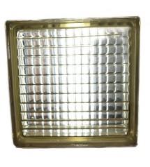 Brique de verre BV11 parallel pattern marron 190x190x80