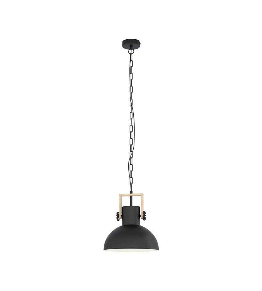 LUBENHAM susp acier noir /marron E27 28W d300 H1100